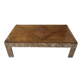 Minton Spidell Carved Designer Coffee Table
