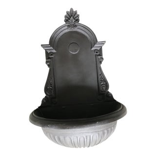 Vintage Brown-Black Metal Wall Fountain For Sale