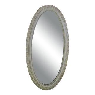 Mid-Century Modern Carolina Mirror Company Oval White Framed Mirror For Sale