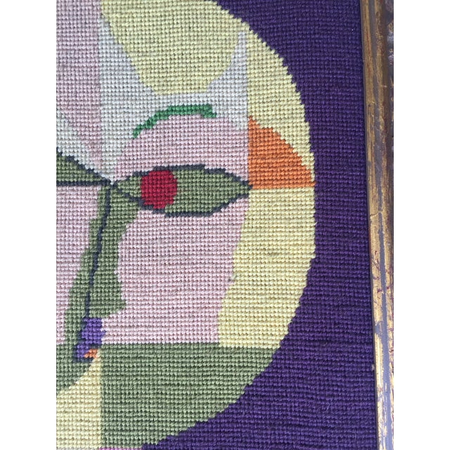 Vintage Paul Klee Style Modernist Needlepoint For Sale - Image 5 of 6