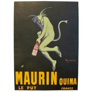 Original Art Deco Oversize Poster, Green Devil by Cappiello