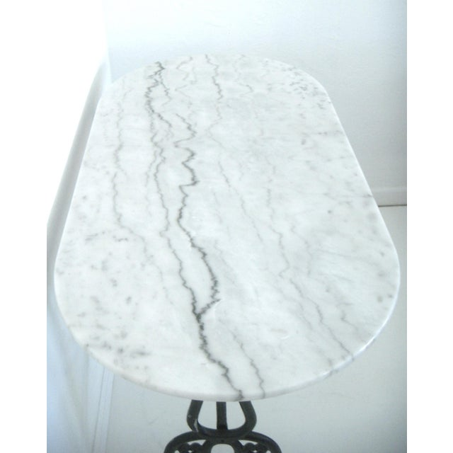 White Italian Marble Console/Bistro/Dining Table - Image 4 of 8
