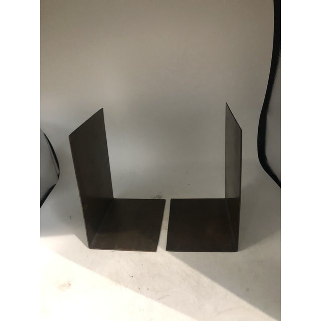 Metal German Modernist Copper Bookends - a Pair For Sale - Image 7 of 10
