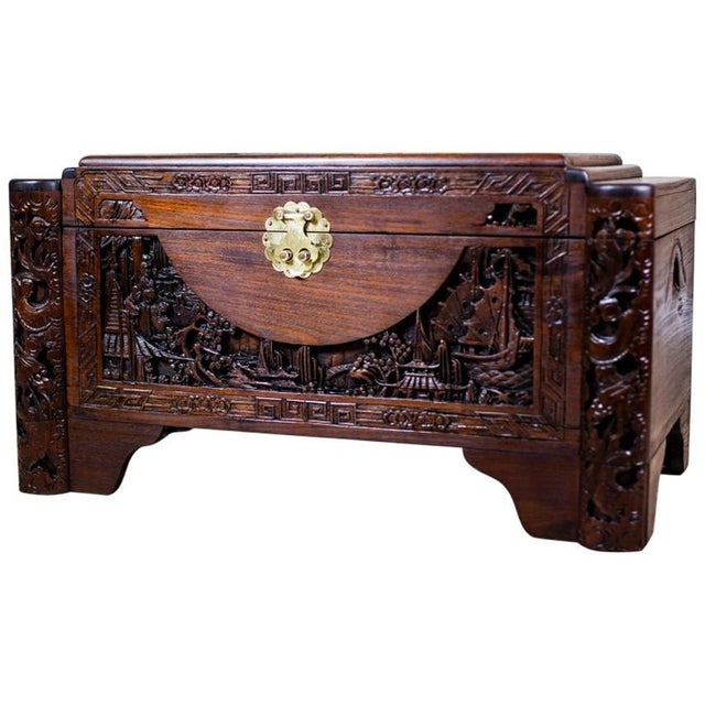 Chinese Carved Chest from the 1930s For Sale - Image 10 of 10