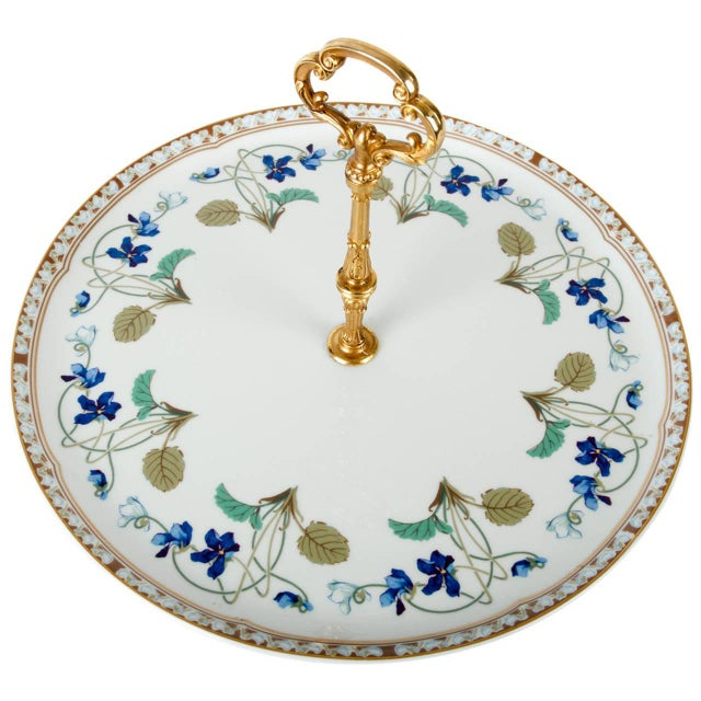 Limoges Tier Cake Platter For Sale - Image 4 of 4