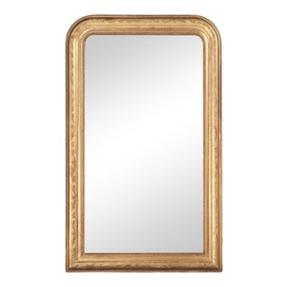 Antique French Louis Philippe Gilt Mirror For Sale