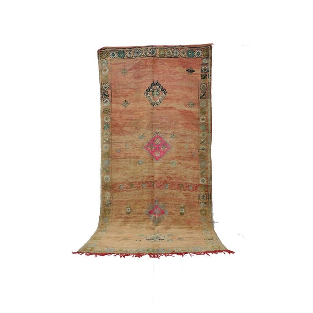 1970s Vintage Moroccan Boujad Rug- 6′8″ × 13′7″ For Sale - Image 6 of 6