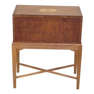 Baker Yew Wood Inlaid Flip Open Box