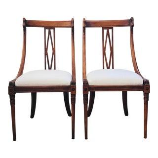Art Nouveau Swan Head Side Chairs- a Pair For Sale