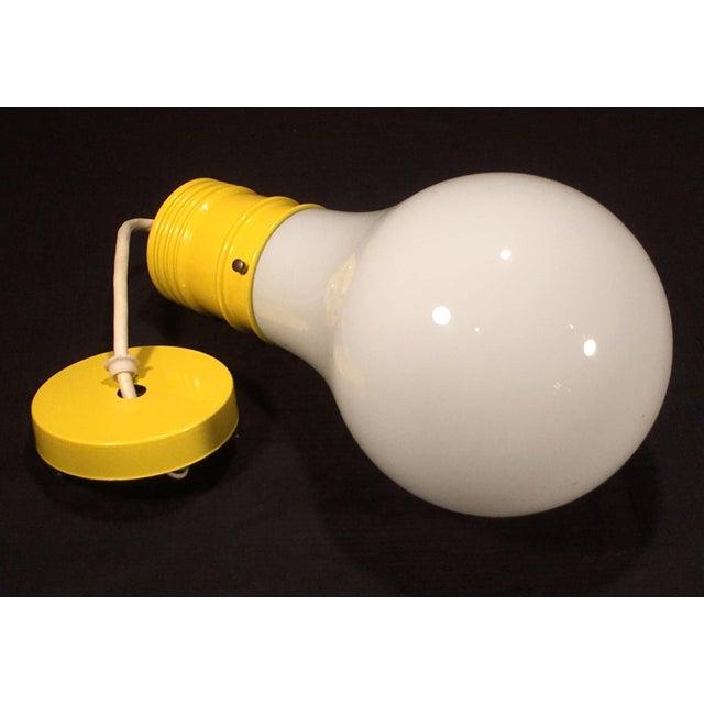 Mid Century Modern Oversized Lightbulb Pendant Ceiling Light For Sale - Image 10 of 10