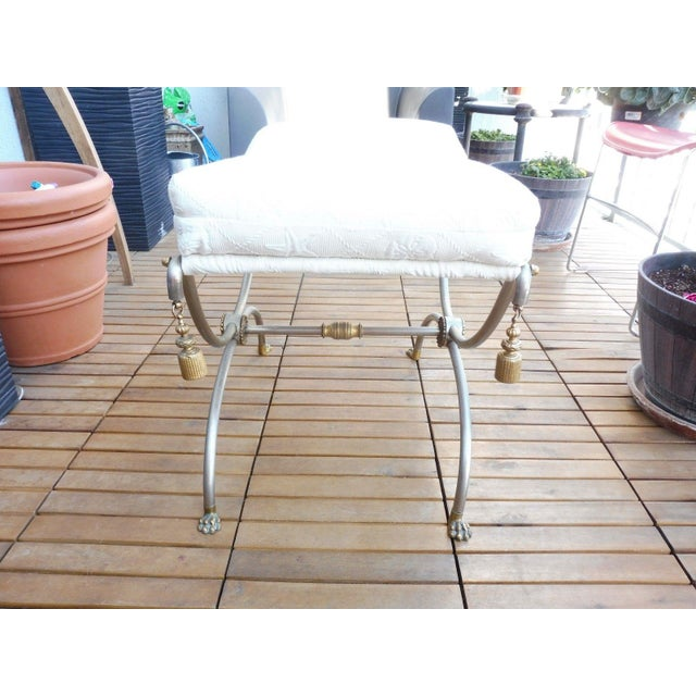 1970s Neoclassical Bench With Rope Tassels For Sale In Miami - Image 6 of 10