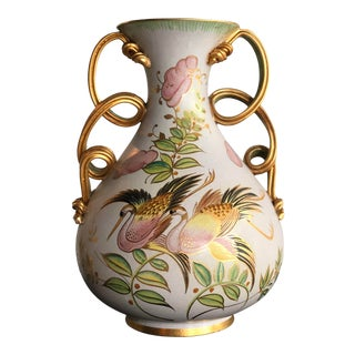 Mid 20th Century Italian Porcelain Vase by Egisto Fantechi For Sale