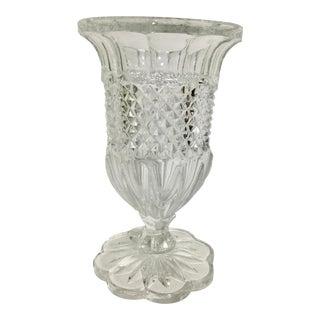 Vintage Indiana Glass Flower Vase For Sale