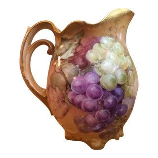 Antique Grape Motif Pitcher For Sale