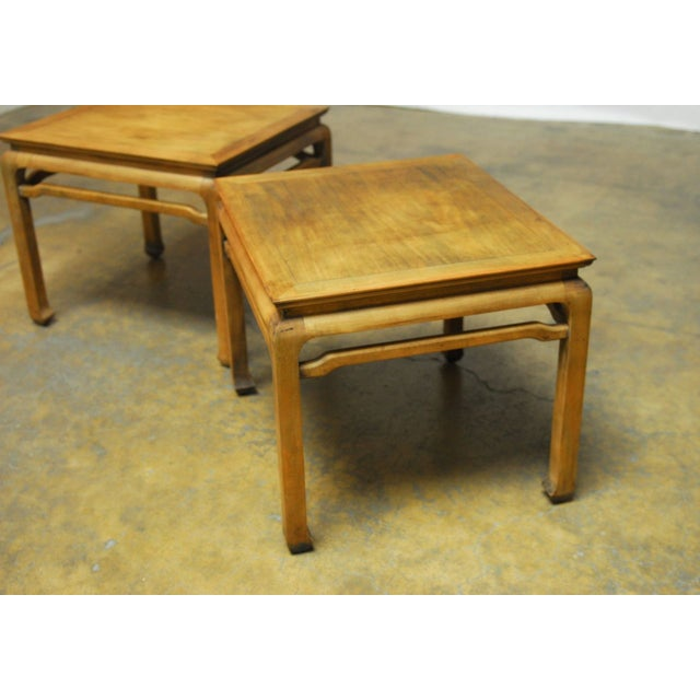 Chinese Carved Ming Style Occasional Tables - Pair - Image 8 of 8