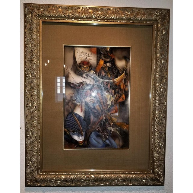 PRESENTING a GORGEOUS piece of contemporary art, namely, a Vladimir Ryklin Oil on Canvas Cirque de Soleil 1. VLADIMIR...