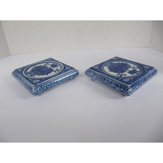 Blue & White Candle Holders-2 Pieces Preview