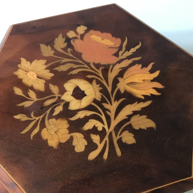 1960s Reuge Sorrento Wood Jewelry Box For Sale - Image 5 of 6