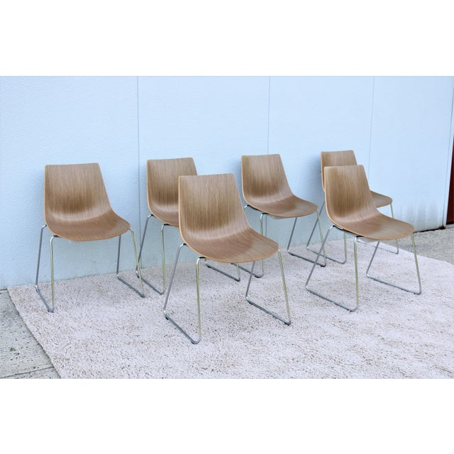 Mid-Century Modern Style Allermuir Curve Dining or Stacking Side Chairs- Set of 6 For Sale In New York - Image 6 of 13