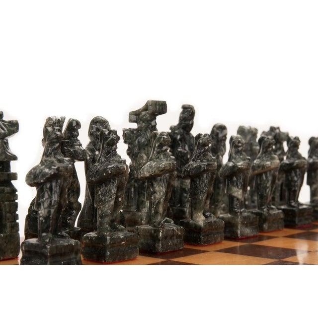 Chinese Green & White Jade Soap Stone Chess Set - Image 5 of 8