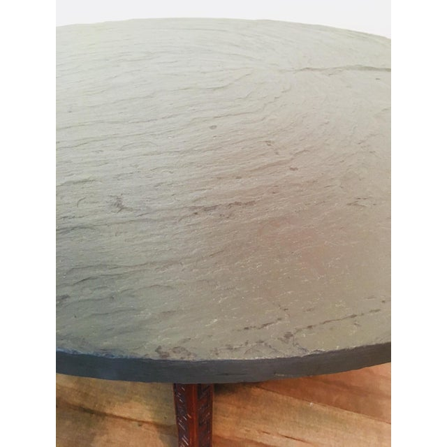 1950s Frank Lloyd Wright for Henredon Coffee Table W/Slate Stone Top For Sale - Image 5 of 9