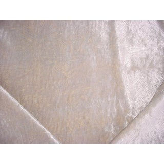 Romo 9021 Koto Crystalline Silver Mid Century Velvet Upholstery Fabric - 3-3/4y For Sale