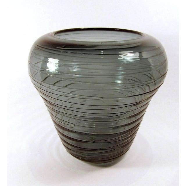 Hand Blown Smokey Green Glass Shoulder Vase Chairish