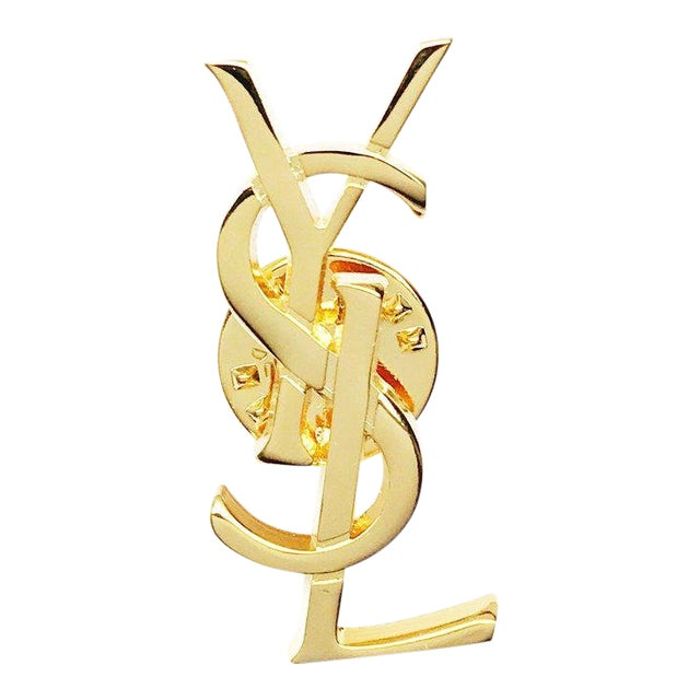 Classic Monogram Pin by Yves Saint Laurent For Sale
