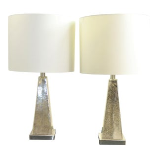 Renwil Lamp Antique Glass Table Lamps - a Pair For Sale