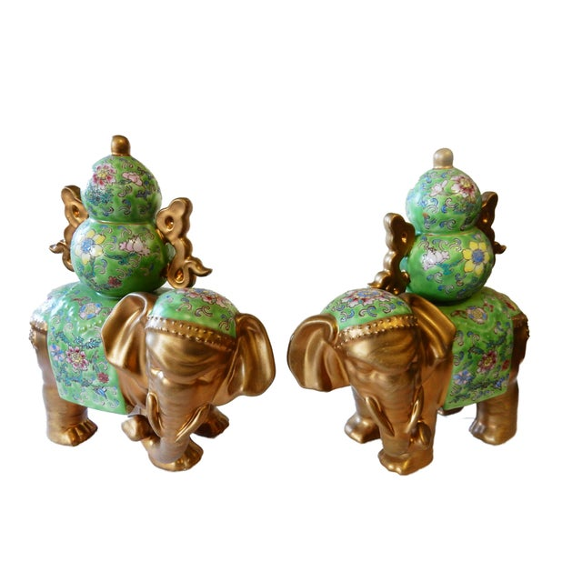 Famille Verte Style Elephants - a Pair For Sale In New York - Image 6 of 10
