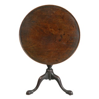 George III Mahogany Tilt Top Table For Sale