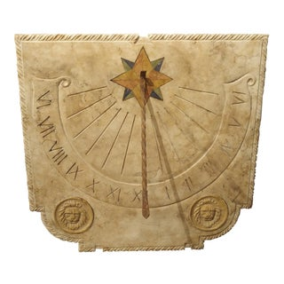 A Carved Italian Marble Sundial For Sale