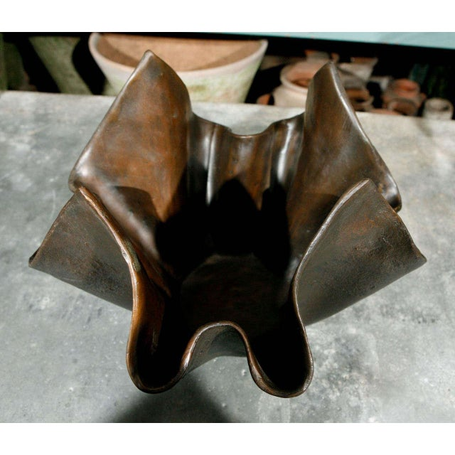 Small Bronze Handkerchief Planter For Sale In Los Angeles - Image 6 of 8