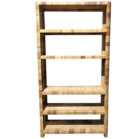 1980s Boho Chic Bielecky Brothers Woven Bookshelf For Sale