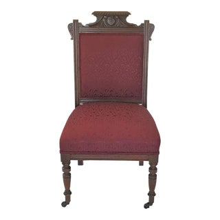 Late 19th Century Walnut Charles Eastlake Side Chair For Sale