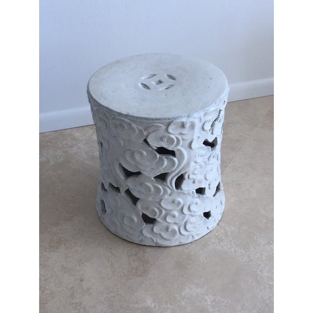 """Ceramic Chinese """"Cloud"""" Garden Seat For Sale - Image 7 of 11"""