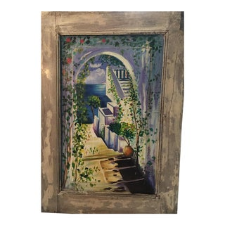 Antique Seaside Wall Panel / Painting For Sale