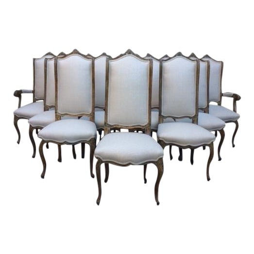 French Louis XVI Style Dining Chairs - Set of 12 - Image 1 of 11