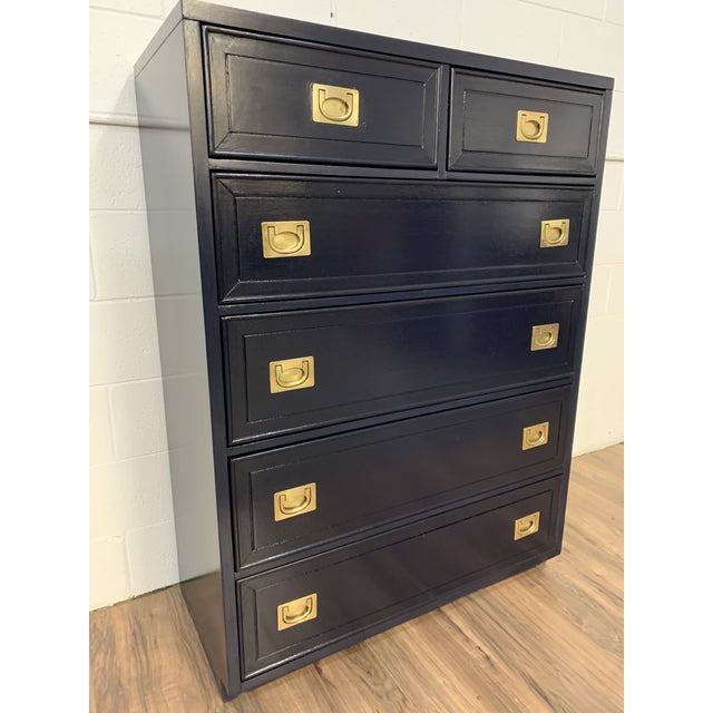 Campaign 1950s Campaign Style Refinished Dresser For Sale - Image 3 of 8