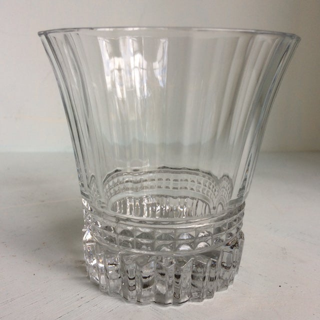 This is a set of 6 Cristal D'Arques -Durand Victoria double old fashion glasses. They have a outward turned lip with a...