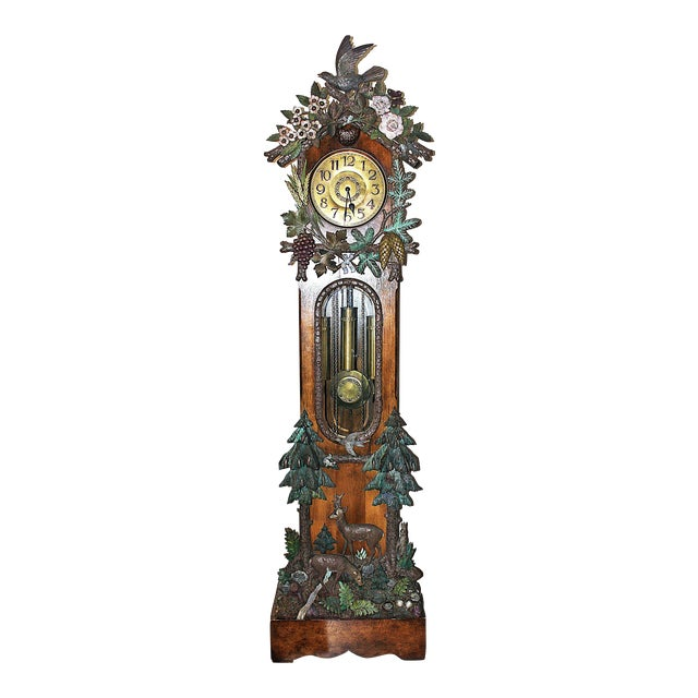 Black Forest Grandfather Tall-Case Clock For Sale