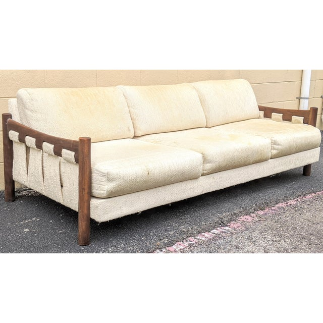 Walnut Frame Adrian Pearsall-Style Sofa by Craft Associates For Sale - Image 10 of 10