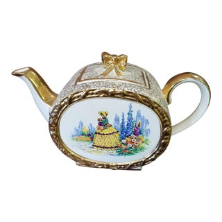 1920s Vintage Sadler English Crinoline Lady Design Teapot