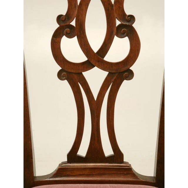 Chippendale Eighteenth Century Hand-Carved Irish Chippendale Side Chair For Sale - Image 3 of 10