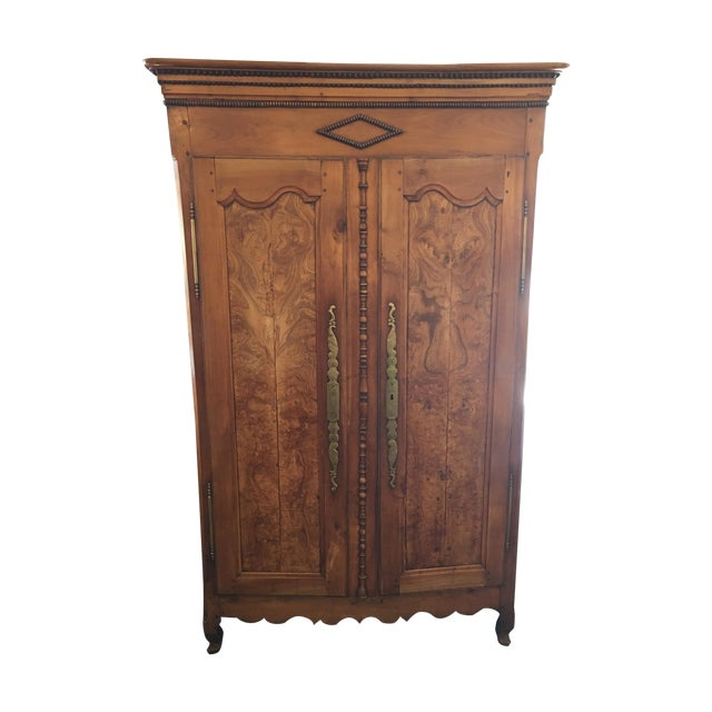 Antique Walnut Armoire With Television Mount - Image 1 of 11