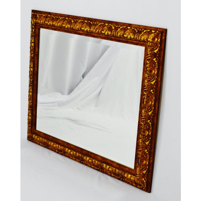 Decoratively Framed Bevelled Wall Mirror 34 x 28 - Image 3 of 8