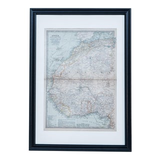 Hand Colored Antique Map of Africa For Sale