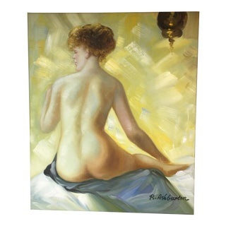 """Contemporary """"Nude Bather"""" Oil Painting For Sale"""