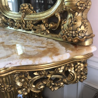 1930s Vintage Rococo French Mirror and Console Preview