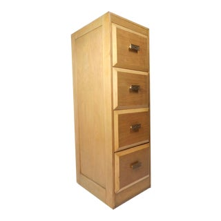 Gorgeous Vintage Modern Tall File Cabinet For Sale